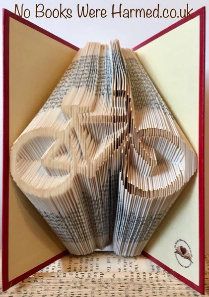 READY TO POST Push Bike : : Hand folded, never cut, designer made book art sculpture
