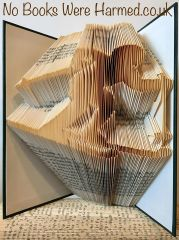 Skier : : Ski Skiing : : Hand folded, never cut, book art