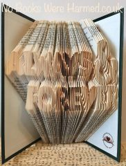 READY TO POST : Always & Forever : hand folded book art ♥