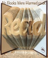 "READY TO POST : : ""Read"" : : Hand folded, Non cut book art"