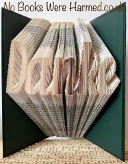 """Danke"" : : Thanks in German : : Hand folded, Non cut book art"
