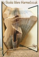 READY TO POST Hammer Thrower : : Highland Games : : Hand folded, never cut, book art