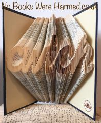 """cwtch"" : : Hug in Welsh : : Hand folded, Non cut book art"