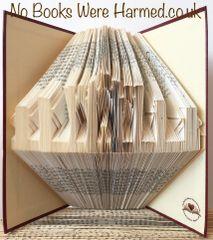 Fyrish Monument : : Scottish Highlands : : Hand folded, never cut, book art