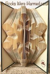 LIMITED EDITION : : 2019 Snowflake : : Hand folded, never cut, designer made, book art