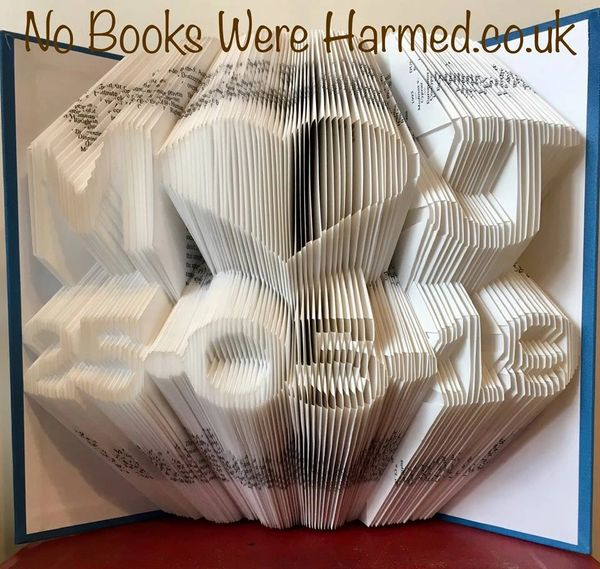 ♥ Personalised keepsake initials & date, carefully hand folded into the pages of a book ♥ Birthday, Wedding Anniversary ♥