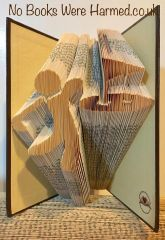 READY TO POST Golfer : : Hole In One! : : Hand folded book art