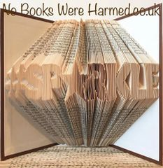 #SPARKLE : : #SP★RKLE : : Hand folded, non cut book art