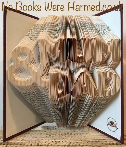 READY TO POST MUM & DAD : : Hand Folded, never cut book art ★★