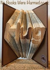 "READY TO POST ""Hug"" : : Hand folded, never cut, folded book art"