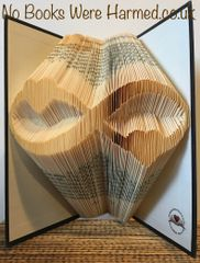 READY TO POST Infinity hearts: : Hand folded, designer made, non cut book art