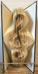 READY TO POST Musical Hand folded book art : : Treble clef