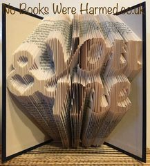 READY TO POST You & Me : : Hand Folded, never cut book art ★★