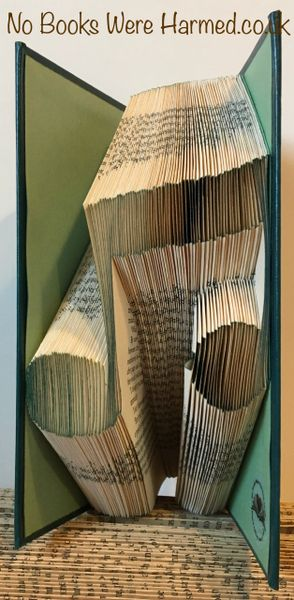 READY TO POST Musical Note Hand folded book art
