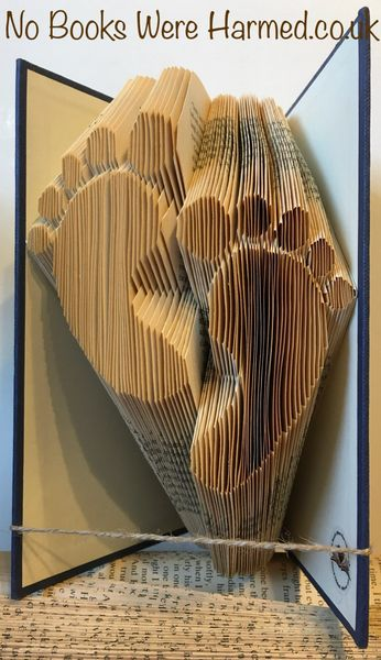 Baby Feet : : Foot prints : : Foot Steps : : Hand folded, never cut book art
