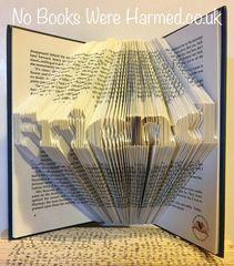 "mini ""Friend"" : : Beautiful token of affection ♥ : : Hand folded book art"