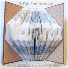 """Nanna"" #3 style : : Nanna Gift : : Folded book art"