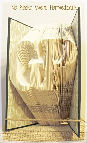 """GP"" General Practitioner : : Gift for Doctor : : Hand folded book art sculpture"
