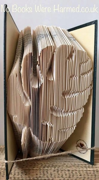 READY TO POST Monstera Leaf : : Swiss Cheese Plant : : Hand folded book art sculpture