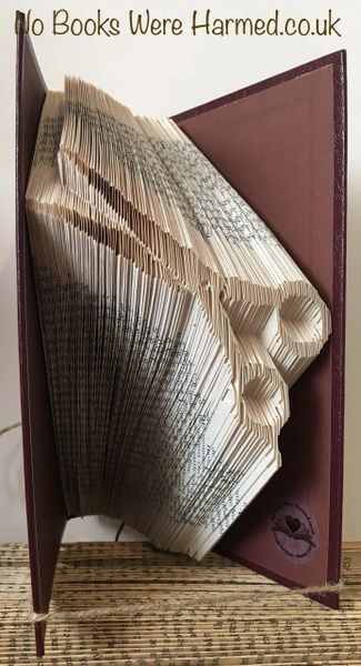 READY TO POST Scissors : : Barber Shears : : Hand folded book art sculpture