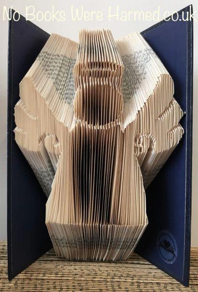 Angel : : Book Angel : : Hand folded book art sculpture