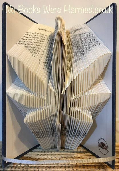 READY TO POST Marijuana Leaf : : Hash Leaf : : Hemp Leaf : : Hand folded book art sculpture