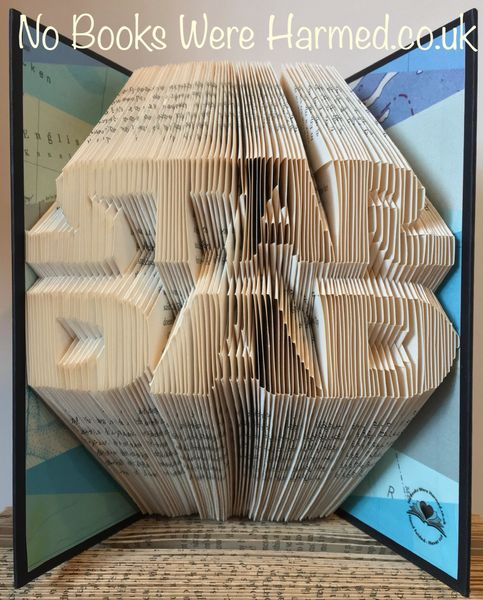 """STAR DAD"" : : Hand Folded Book Art"
