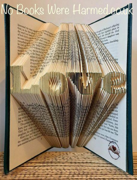 "mini ""Love"" : : Beautiful token of affection ♥ : : Hand folded book art"