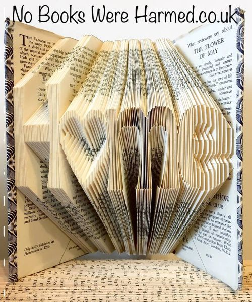 "READY TO POST ""Home"" with hollow heart o : : New home, moving present, book art : : Home is where the heart is book art ♥"