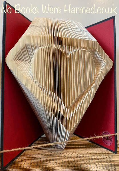 READY TO POST Superb Heart : : Valentines, love token, wedding or anniversary present of folded book art ♥