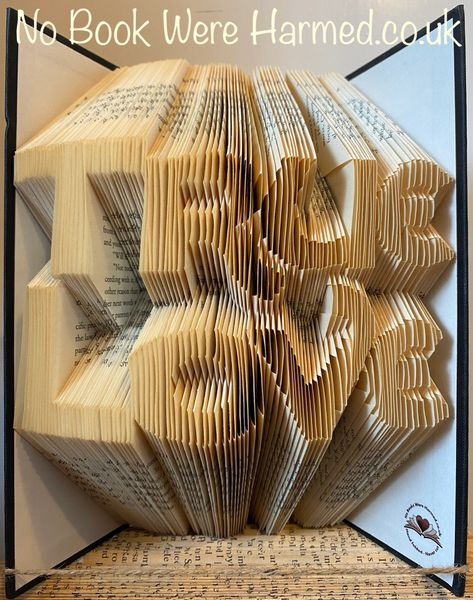 READY TO POST : True Love : Hand folded book art