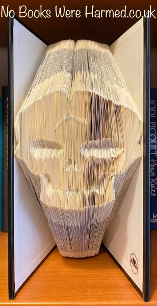"READY TO POST ""Superior Crack Head"" : : Hand folded book art : : Encyclopedia Britannica : : The Bibliophile Collection"