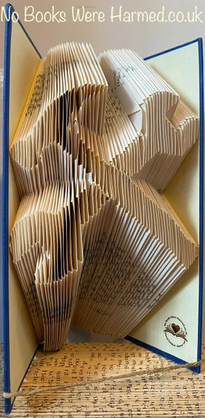 READY TO POST Crossed Spanner & Hammer : : Hand folded book sculpture