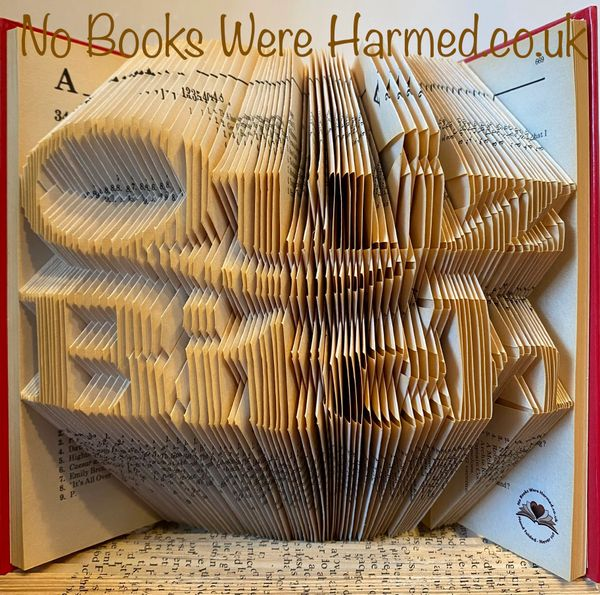 Quiz Bitch : Hand folded book art