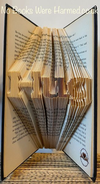 "mini ""Hug"" : : Hand folded, never cut, folded book art"