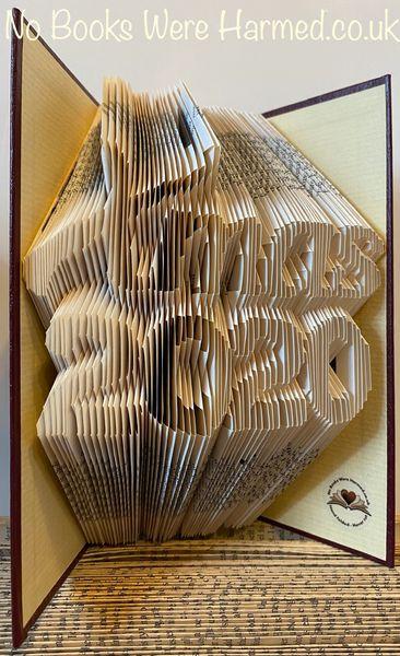 READY TO POST Xmas 2020 Hand folded book art