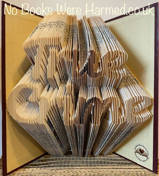 READY TO POST True Crime : : Hand Folded, never cut book art