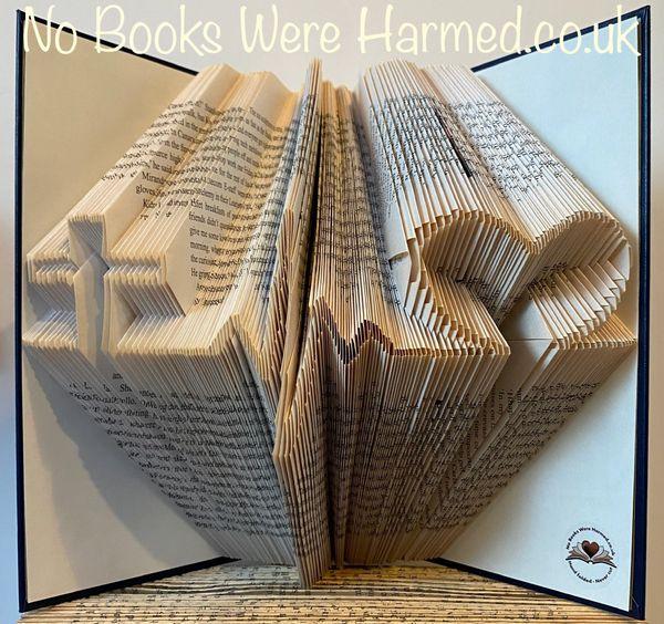 READY TO POST Faith~Life~Love hand folded book art ♥