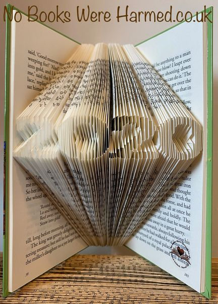 READY TO POST mini 2020 Hand folded book art