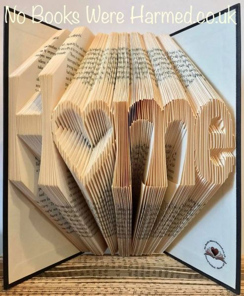 """READY TO POST """"Home"""" with hollow heart o : : New home, moving present, book art : : Home is where the heart is book art ♥"""