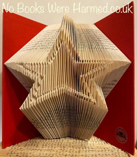 Star burst :: Hand folded, non cut book art