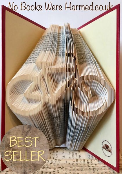 READY TO POST Push Bike : : Hand folded, never cut, designer made book art sculpture