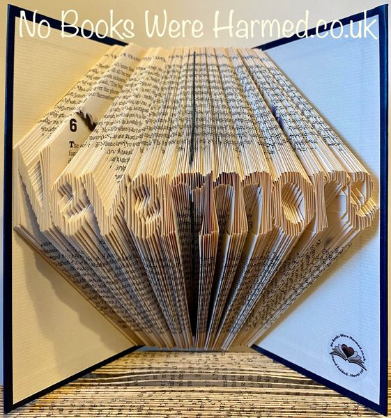 READY TO POST Nevermore : : Edgar Allan Poe inspired : : Hand folded book art
