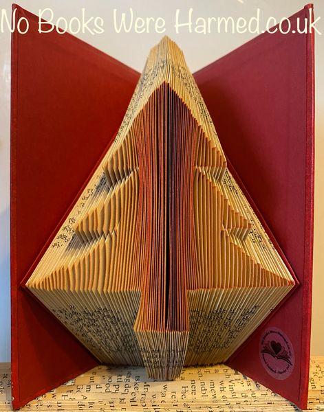Christmas Tree : : Hand Folded, never cut book art