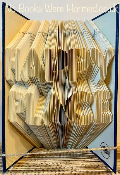 READY TO POST HAPPY PLACE : : Hand folded book art