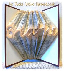 """READY TO POST A reminder to """"Breathe"""" : : Hand folded, no-cut book art."""
