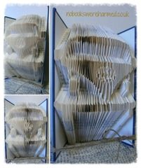 Happy Camper! : : Camper van folded book art. Holidays, touring, countryside, nautical, sea side ♥