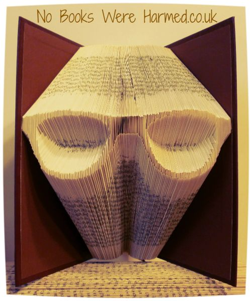 Spectacles, glasses, shades : : Optical enhancers : : hand folded into the pages of a book
