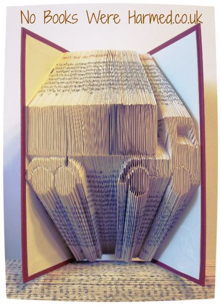 READY TO POST Lorry : : Truck : : Artic. : : HGV hand folded into the pages of a real book