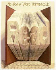 """""""Read"""" in crisp, sharp, clear letters"""